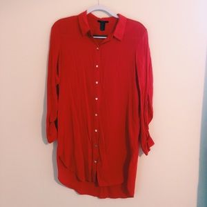 Forever21 Red button-down blouse
